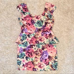 ✨ Peplum Floral Dress ✨